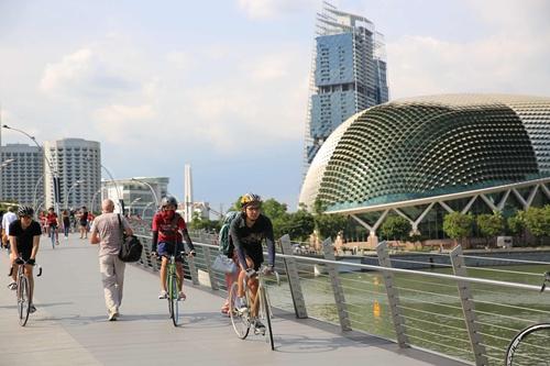 เหล่านักปั่นผู้ชนะ Active Campus Network Season 2  ได้สัมผัสและเรียนรู้จากโมเดลเมืองจักรยานของจริง