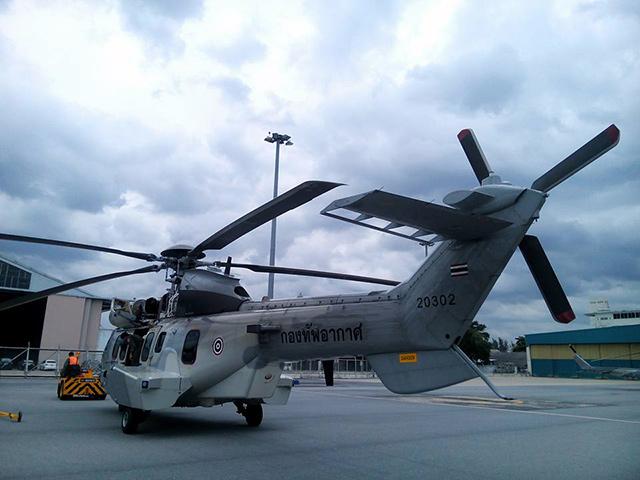 <br><FONT color=#00003>ซูเปอร์คูการ์ (Super Cougar) 1 ใน 4 ลำจากการจัดหาในเฟสแรก ปีนี้กำลังจะมาอีก 2 และ 2 ลำล่าสุด ปี 2562. -- Royal Thai Air Force. </b>