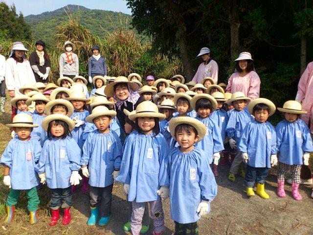ภริยาผู้นำญี่ปุ่นส่งเสริมให้เด็กๆเรียนรู้วิถีชีวิตชาวนา