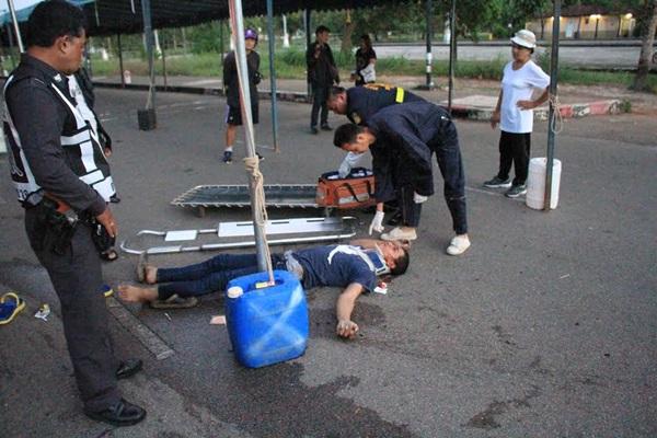 วัยรุ่นตราดเที่ยวงานลอยกระทงปาระเบิดปิงปองใส่กันทั้งที่ไม่รู้จักจนบาดเจ็บ