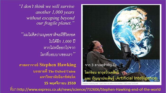 """""""ผมไม่คิดว่ามนุษยชาติจะมีชีวิตรอดไปได้อีก 1,000 ปี"""": นักวิทยาศาสตร์ผู้ยิ่งใหญ่ของโลกเตือน"""