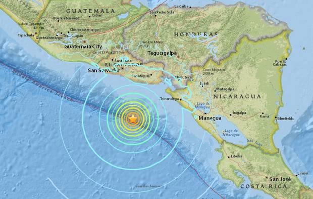 แผ่นดินไหว 7.0 สั่นสะเทือนนอกชายฝั่งอเมริกากลาง นิการากัวประกาศภาวะฉุกเฉิน