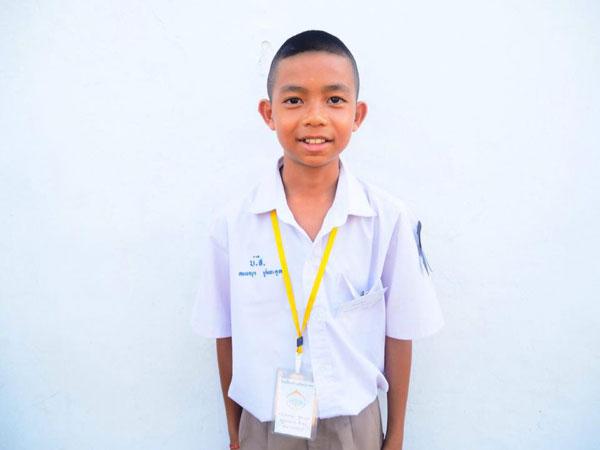 เด็กชายคงพญา ชูตระกูล นักเรียนชั้นประถมศึกษาปีที่ 6