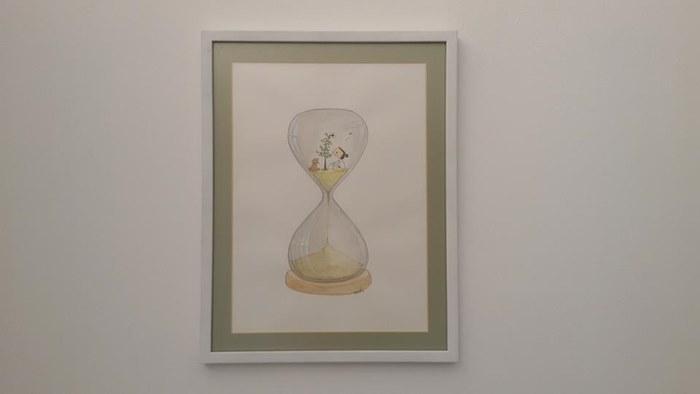นาฬิกาทราย ผลงานโดย ณัฐวีร์ ลิมปนิลชาติ(เจ้าของเพจเฟซบุ๊ก หมาจ๋า)