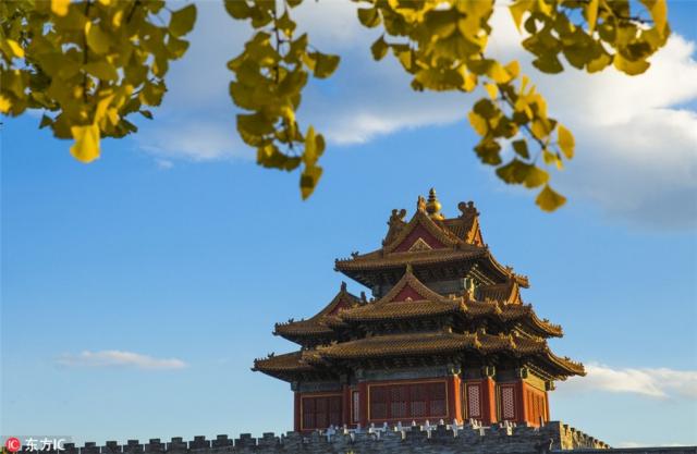 9. ปักกิ่ง - มุมหนึ่งของพระราชวังต้องห้าม สถานที่ท่องเที่ยวชื่อดังของกรุงปักกิ่ง