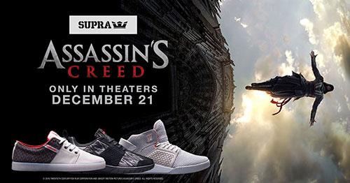 """ยูบิซอฟต์ผนึกแบรนด์รองเท้า ทำคอลเลคชันรับหนัง """"ASSASSIN'S CREED"""""""