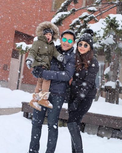 """สุดฟิน! ครอบครัว """"เป้ย ปานวาด"""" พากันบินลัดฟ้าไปตะลุยหิมะที่ญี่ปุ่น"""