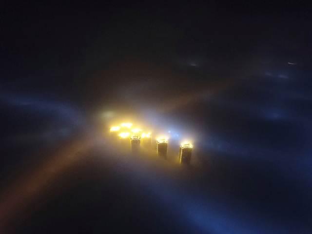 วันหมอกมลพิษครองนครเทียนจิน ภาพวันที่ 3 ม.ค. 2017  (ภาพ รอยเตอร์ส)