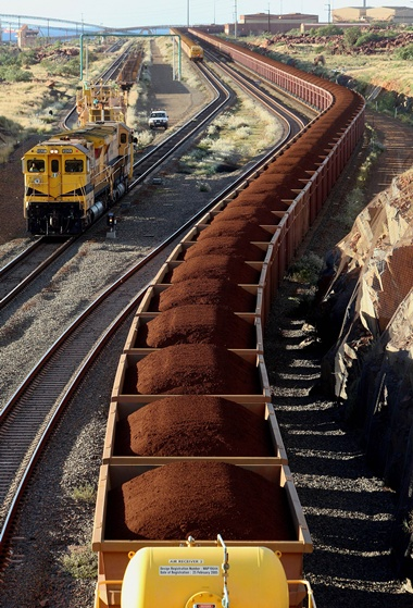 Mining giant Rio Tinto reported Tuesday a ramp up in iron ore shipments on surging prices, but copper output disappointed amid production issues at its global mines. -- Photo: AFP