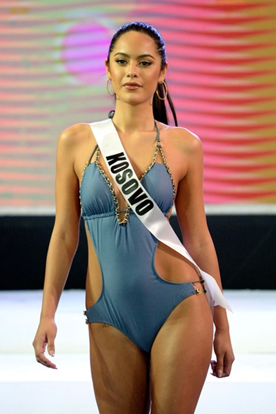 Cebu, Philippines: Miss Kosovo Camila Barraza participates in a swimwear fashion show in Cebu City, central Philippines on January 17, 2017. The Miss Universe Pageant will be held on January 30. AFP/Noel Celishow in the Philippines.