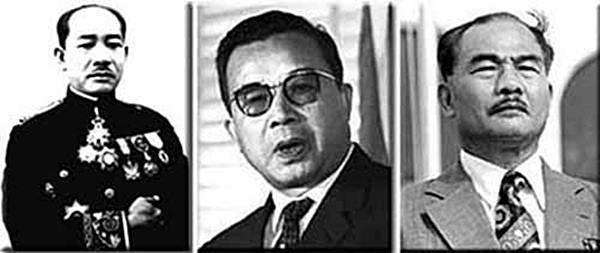 (จากซ้าย) เจ้าเพชรราช  เจ้าสุวรรณภูมา เจ้าสุภานุวงศ์ ๓ พี่น้อง ๓ ผู้ยิ่งใหญ่ในอดีตของลาว