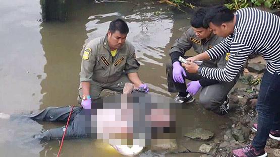พบศพชายนิรนามถูกมัดมือทั้ง 2 ข้าง ลอยขึ้นอืดกลางแม่น้ำเจ้าพระยา