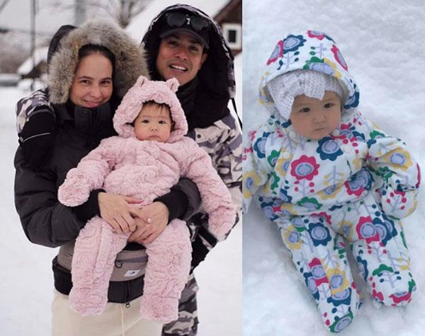 """น่าฟัดสุดๆดุจตุ๊กตาหิมะ กับทริป """"แอน - ภูริ"""" พาน้อง """"ริชา"""" ตะลุยฟินความหนาว"""