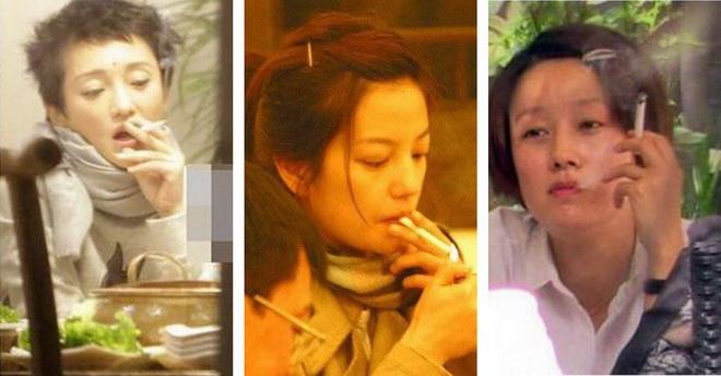 10 ดาราสาวจีนภาพลักษณ์มัวหมอง! เมื่อโดนจับได้ว่าสูบบุหรี่