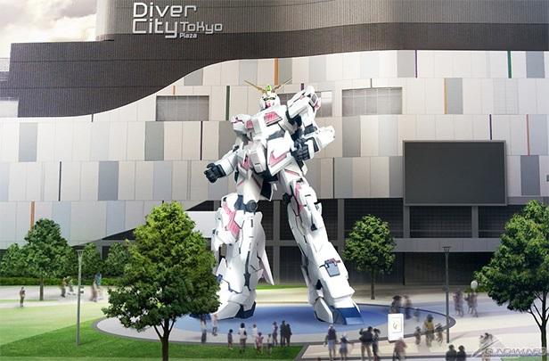 """ตัวใหม่! ญี่ปุ่นเตรียมสร้าง """"ยูนิคอร์นกันดั้ม"""" ขนาดยักษ์เท่าของจริง"""
