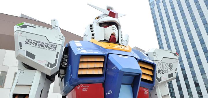<b>กันดั้มขนาดเท่าจริงตัวแรก (ภาพจาก gundamfront-tokyo.com)</b>