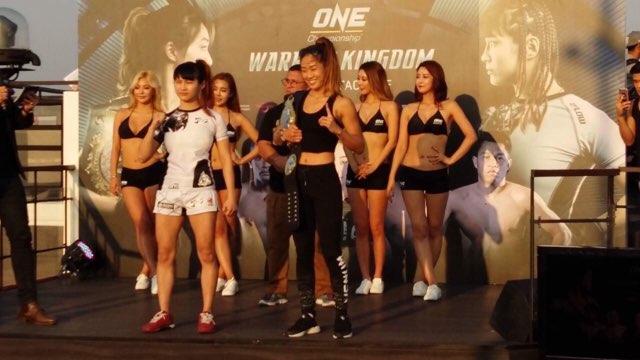 "ONE Championship จัด Face Off โหมโรงศึก Warrior Kingdom ""แองเจลา"" มั่นใจป้องเข็มขัดอะตอมเวท"