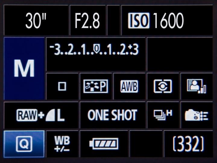 """ตัวอย่างการตั้งค่าการถ่ายภาพแบบ """"ถ่ายสั้น ใช้ ISO สูง รูรับแสงกว้าง"""" โดยใช้ เวลาถ่ายภาพ 30 วินาที รูรับแสง F/2.8 และค่า ISO 1600"""