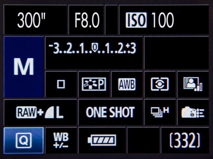 """ตัวอย่างการตั้งค่าการถ่ายภาพแบบ """"ถ่ายนาน ใช้ ISO ต่ำ รูรับแสงแคบ"""" โดยใช้ เวลาถ่ายภาพ 300 วินาที รูรับแสง F/8.0 และค่า ISO 100"""