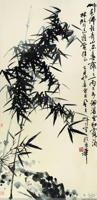 ภาพโดย ปาต้าซันเหริน (八大山人) หรือจูตา (朱耷) (ค.ศ. 1626-1705) จิตรกรสมัยราชวงศ์ชิง