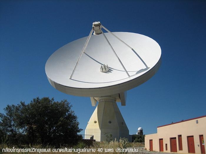 กล้องโทรทรรศน์วิทยุเยเบสในสเปน ต้นแบบกล้องโทรทรรศน์วิทยุแห่งชาติของไทย