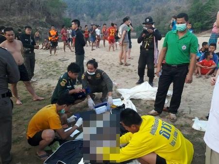 2 วัยรุ่นเกาหลีหนีร้อนเล่นน้ำเมย พลาดจมน้ำดับ