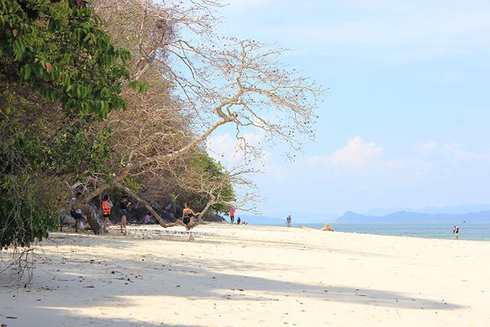 หาดทรายบนเกาะค้างคาว