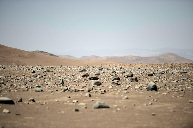 ทะเลทรายอาทาคามาที่มีสภาพแวดล้อมคล้ายดาวอังคาร (Martin BERNETTI / AFP)