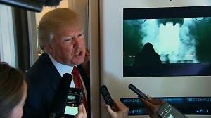 นายโดนัลด์ เจ ทรัมป์ ประธานาธิบดีแห่งสหรัฐ (ภาพจากสำนักข่าว CNN)