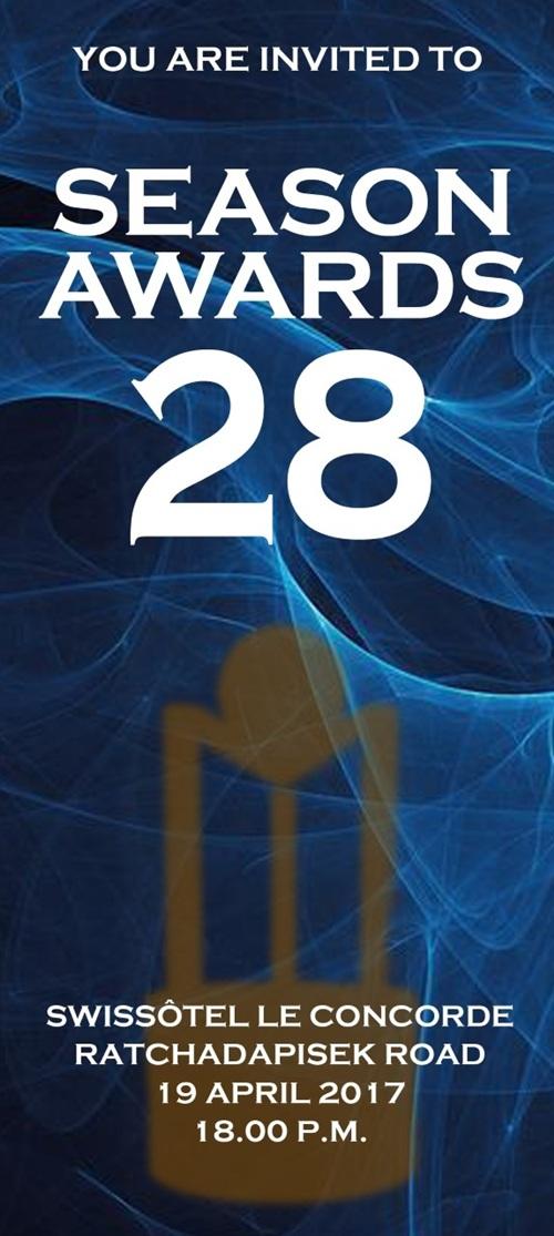 """รายชื่อผู้เข้าชิงรางวัล """"สีสัน อะวอร์ดส์"""" ครั้งที่ 28"""