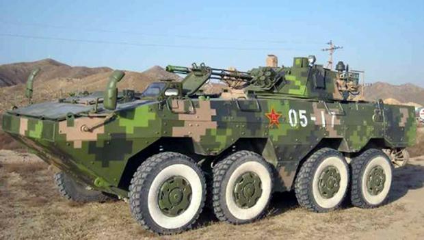 <br><FONT color=#00003>รถหุ้มเกราะ  ZBL09 IFV ล้อยาง 8x8 เวอร์ชั่นของกองทัพประชาชนจีน ในลิฟเวอรี่ลายพรางดิจิตอลมาตรฐาน. --  ภาพ: Tanks-Encyclopedia.Com</b>