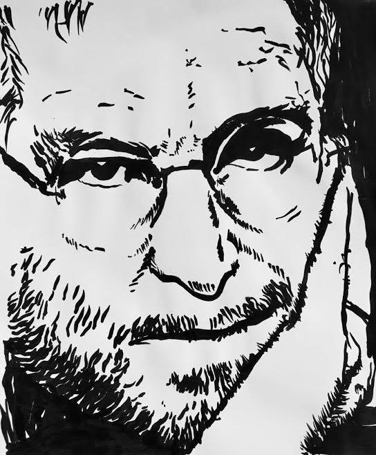 ภาพ Steve Jobs โดยหุ่นยนต์เดลตาโรบอท
