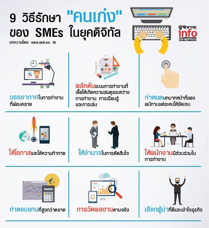 """9 วิธีรักษา """"คนเก่ง"""" ของ SMEs ในยุคดิจิทัล"""