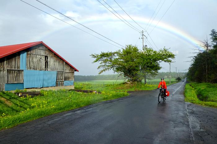 ปั่นจักรยานใต้โค้งรุ้งทาบทอในเส้นทางโมริโอะ-ฮะจิมันไต(เส้นทางปั่นวันแรก)