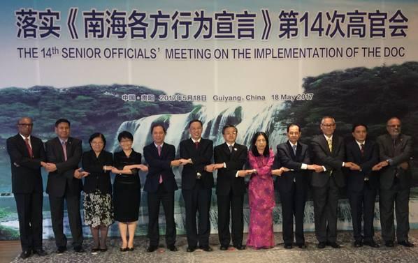จีน-อาเซียนรับรองร่างกรอบงานแนวปฏิบัติในทะเลจีนใต้
