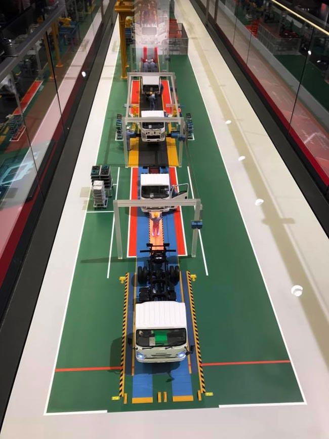 จำลองการผลิตรถอีซูซุ จะได้เห็นตั้งแต่ขั้นตอนการผลิตรถบรรทุก