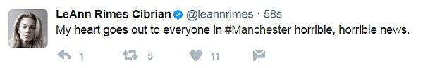 ลีแอน ไรมส์ : ขอส่งใจไปยังทุกคนในแมนเชสเตอร์ เป็นข่าวที่เลวร้ายสุดๆ