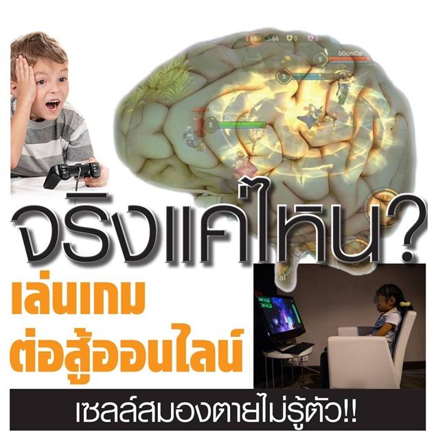 จริงแค่ไหน? เล่นเกมต่อสู้ออนไลน์ เซลล์สมองตายไม่รู้ตัว!!