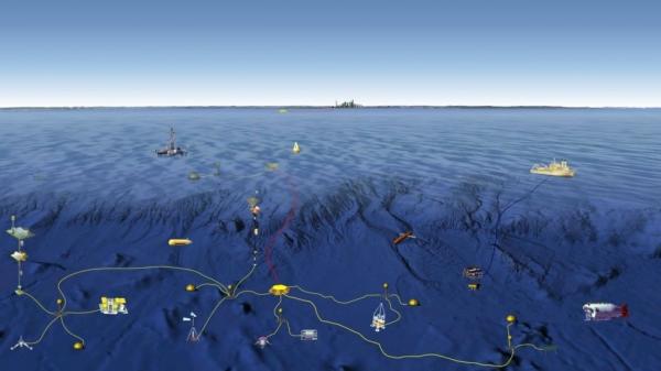 ภาพกราฟิคแสดงระบบสังเกตการณ์พื้นสมุทรตามแผนการของรัฐบาลจีน (ภาพ เซาท์ไชน่ามอร์นิ่งโพสต์)