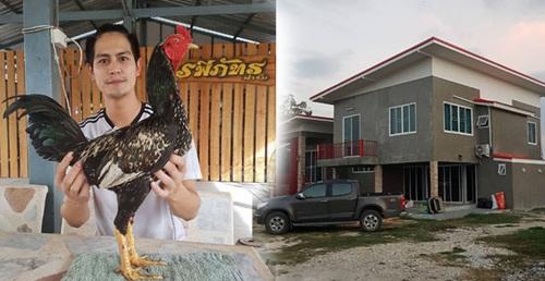 """บ้านหลังใหม่ """"น้ำ รพีภัทร"""" กับอาชีพฟาร์มไก่ชน"""