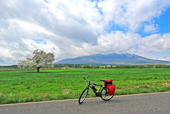 เส้นทางปั่นจักรยานผ่านจุดชมวิวซากุระเดียวดาย หนึ่งในแหล่งท่องเที่ยวชื่อดังของเมืองฮะจิมันไต