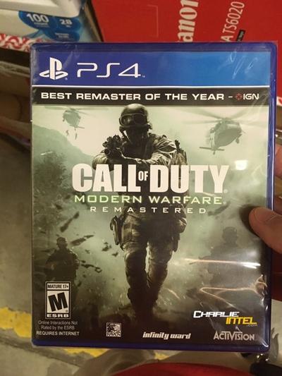 """หลุดแผ่น """"Modern Warfare Remastered"""" ฉบับแยกขาย ติดป้าย 40 เหรียญ"""