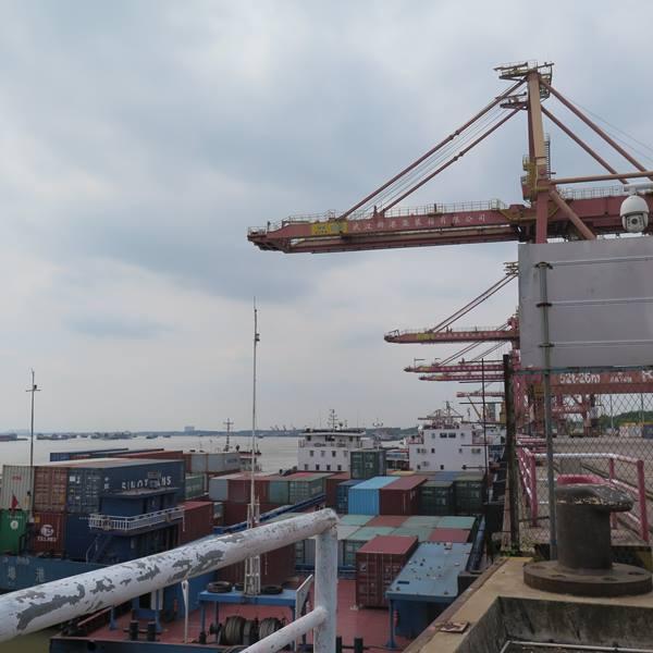 มณฑลหูเป่ยกำลังพัฒนาท่าเรือใหม่อู่ฮั่น (Wuhan New Port) มีพื้นที่ทั้งหมด 13,745 ตารางกิโลเมตร โดยจะสร้างโซนท่าเรือ 30 แห่ง ในเมืองต่างๆ 5 เมือง ได้แก่ อู่ฮั่น หวงกั่ง เอ้อโจว เสียนหนิง หวงสือ  (ภาพ MGR ONLINE)
