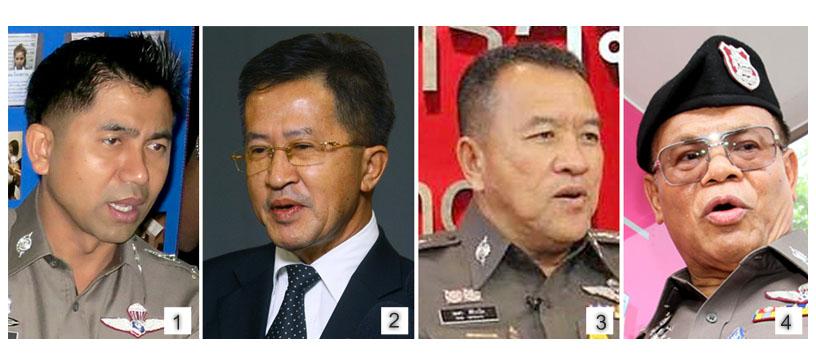"""[1] พล.ต.ต.สุรเชษฐ์ หักพาล ผู้การตำรวจ 191 ที่ถูกมองว่าเป็น """"ผบ.ตร.น้อย"""" เชื่อมโยงไปถึง """"ฟาร์มโชคชัย"""" ที่ว่ากันว่าเป็นขุมอำนาจที่ควบคุมทุกอย่างที่เกี่ยวกับตำรวจ  [2] วิทยา แก้วภราดัย นักการเมืองชื่อดัง ที่มีหมวกเป็นทั้งอดีตสมาชิก สปท. และแกนนำคนสำคัญของ กปปส. ที่ออกมาเปิดโปงขบวนการซื้อขายตำแหน่งนายตำรวจ [3] พล.ต.ท.เทศา ศิริวาโท ผู้บัญชาการตำรวจภูธรภาค 8 (ผบช.ภ.8) ถูกคำสั่งย้ายช่วยราชการที่ศูนย์ปฏิบัติการสำนักงานตำรวจแห่งชาติ (ศปก.ตร.) หลังการเปิดโปงของนายวิทยา [4] พล.ต.อ.ปัญญา มาเม่น จเรตำรวจแห่งชาติ (จตช.) ที่ผู้รับหน้าที่ตรวจสอบข้อเท็จจริงกรณีที่การซื้อขายตำแหน่งในการแต่งตั้งโยกย้ายข้าราชการตำรวจในพื้นที่ภาค 8 วาระประจำปี 2559"""