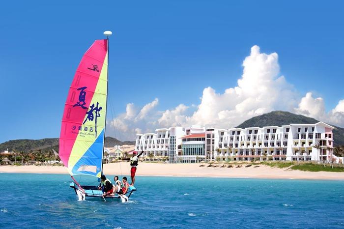 มุมด้านหน้า Chateau Beach Resort Kenting