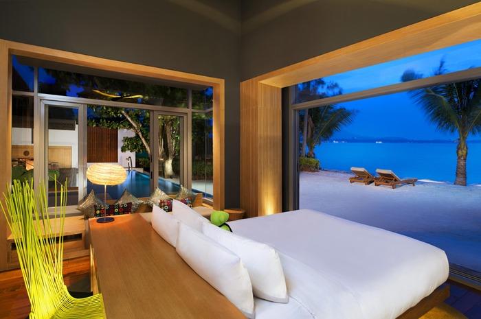 บรรยากาศในห้องพักที่ W Retreat Koh Samui