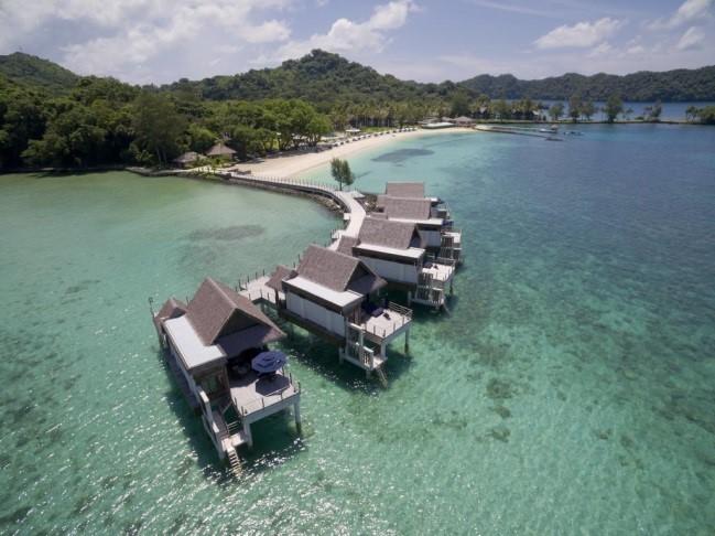 ภาพมุมสูงของ Palau Pacific Resorts