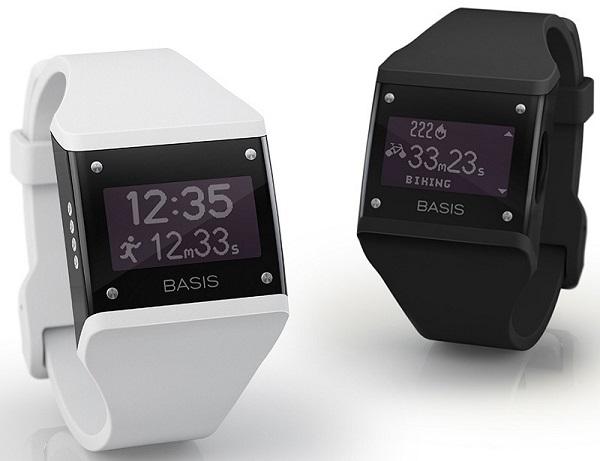 นาฬิกาข้อมืออัจฉริยะแบรนด์ Basis ซึ่งสามารถเก็บข้อมูลอัตราการเต้นหัวใจ สถิตการเคลื่อนไหวร่างกายตามกิจกรรมต่างๆ