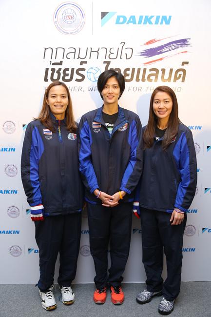 """""""ทุกลมหายใจ…เชียร์ไทยแลนด์"""" ไปกับ """"ไดกิ้น"""" สนับสนุนวอลเลย์บอลทีมชาติไทยก้าวสู่โอลิมปิก"""