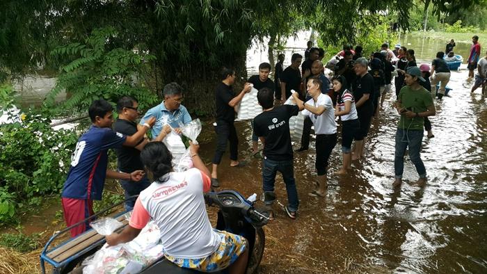 น้ำใจไทยช่วยน้ำท่วม ผนึกกำลังช่วยผู้ประสบภัยพิบัติ